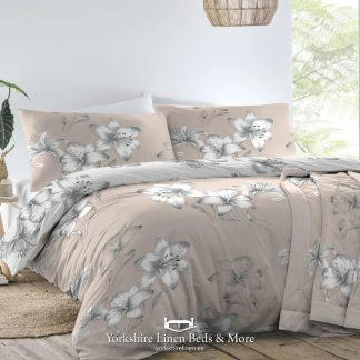 Kitty Floral Duvet Set Blush Pink - Duvet Covers & Bedding Sets - Yorkshire Linen Beds & More P01