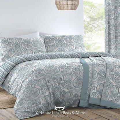 Madeira Duvet Cover Set, Duck Egg Blue - Duvets Covers & Sets - Yorkshire Linen Beds & More