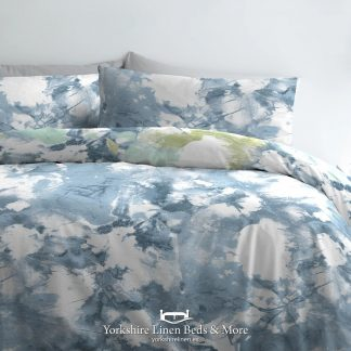 Tie Dye Duvet Cover Set in Blue - Duvet Covers & Bedding Sets - Yorkshire Linen Beds & More P01