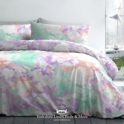 Tie Dye Duvet Cover Set in Multicolour - Duvet Covers & Bedding Sets - Yorkshire Linen Beds & More P01