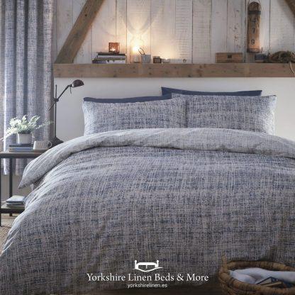 Raine Duvet Cover Set Blue - Duvet Covers & Bedding Sets - Yorkshire Linen Beds & More P01