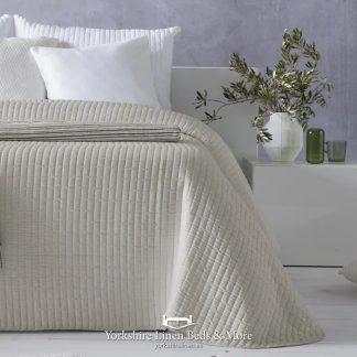Agnes Lightweight Bedspread, Beige - Bedspreads & Throws - Yorkshire Linen Beds & More