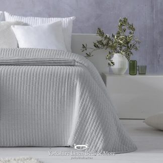 Agnes Lightweight Bedspread, Silver - Bedspreads & Throws - Yorkshire Linen Beds & More