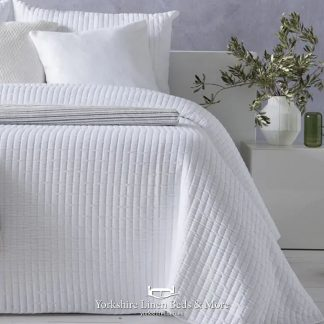 Agnes Lightweight Bedspread, White - Bedspreads & Throws - Yorkshire Linen Beds & More