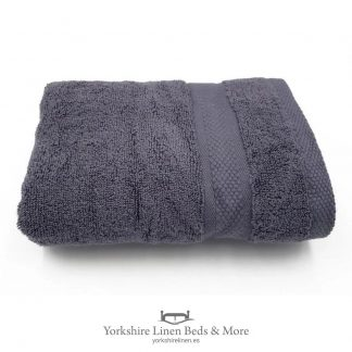 Luxury 600 GSM Zero Twist Towels, Charcoal - Towels and Bathroom - Yorkshire Linen Beds & More