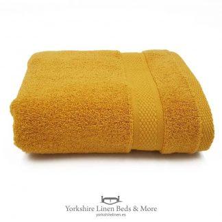 Luxury 600 GSM Zero Twist Towels, Ochre - Towels and Bathroom - Yorkshire Linen Beds & More