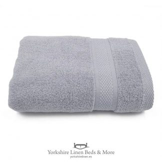 Luxury 600 GSM Zero Twist Towels, Silver - Towels and Bathroom - Yorkshire Linen Beds & More