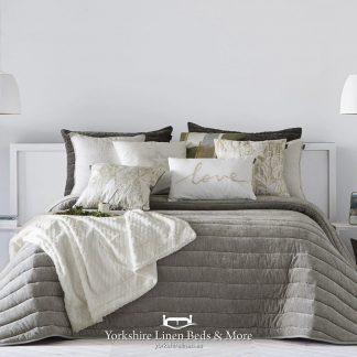 Nantes Luxury Bedspread Beige - Bedspreads & Throws - Yorkshire Linen Beds & More