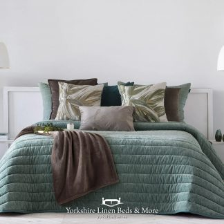 Nantes Luxury Bedspread Mint - Bedspreads & Throws - Yorkshire Linen Beds & More