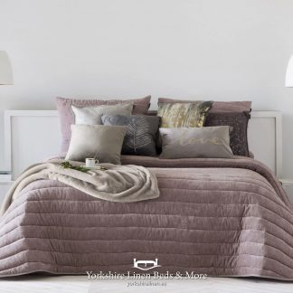 Nantes Luxury Bedspread Pink - Bedspreads & Throws - Yorkshire Linen Beds & More