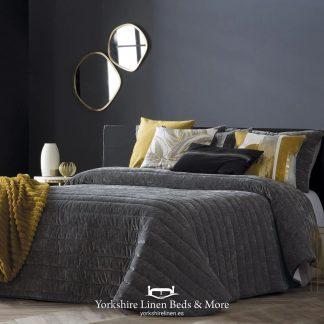 Nantes Luxury Bedspread Range, Grey - Bedspreads & Throws - Yorkshire Linen Beds & More