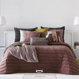 Nantes Luxury Bedspread Terracotta - Bedspreads & Throws - Yorkshire Linen Beds & More