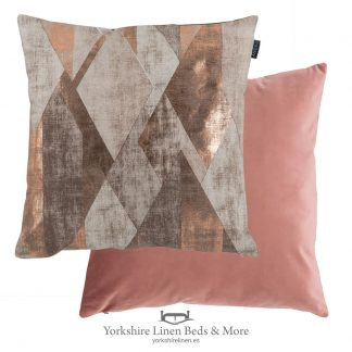 Urban Geo Cushion, Rose - Cushions and Home Decoration, Yorkshire Linen Beds & More