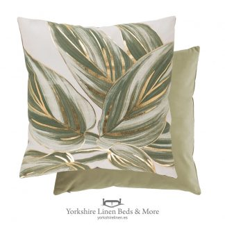 Urban Leaf Cushions, Khaki - Cushions and home Decoration, Yorkshire Linen Beds & More