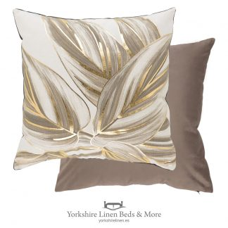 Urban Leaf Cushions, Natural - Cushions and home Decoration, Yorkshire Linen Beds & More