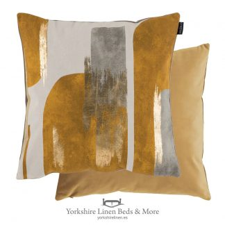 Urban Splash Cushions, Ochre - Cushions and Cushion Covers from Yorkshire Linen Beds & More P01